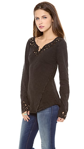 Free People Blue Luna Long Sleeve Top