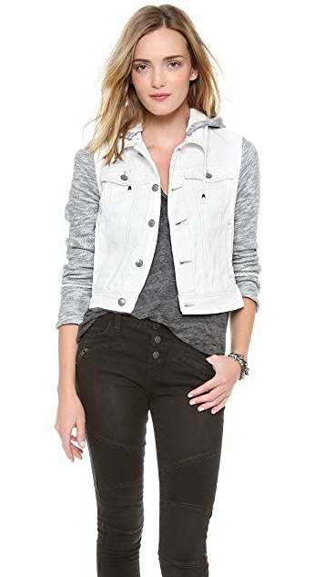 Free People Rugged Ripped Denim Jacket