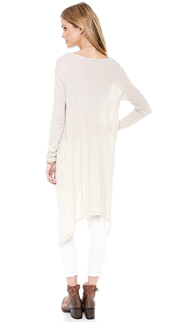 Free People Draped Waffle Knit Tee