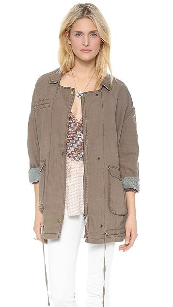 Free People Linen Twill Jacket