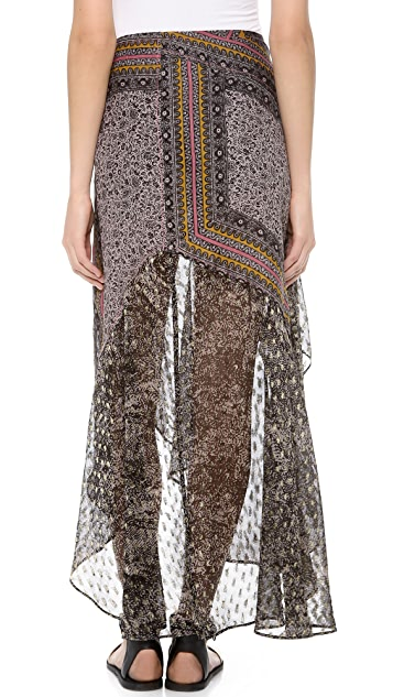 Free People North Country Border Skirt