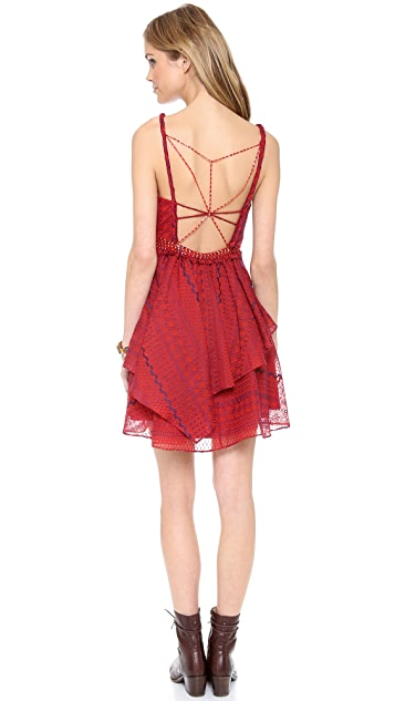 Free People Leia Embroidered Dress
