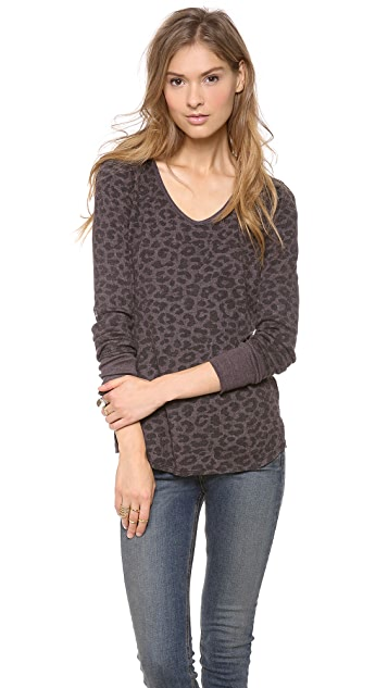 Free People Printed Thermal Top