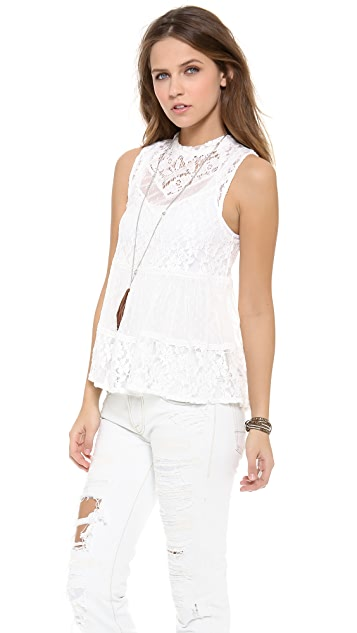 Free People Lady Bird Lace Tank