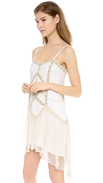 Free People Lace Lattice Party Dress