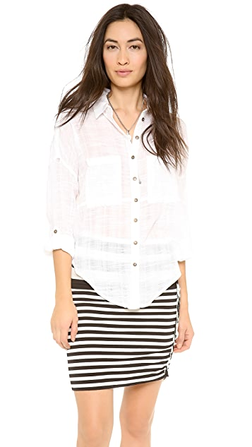 Free People Shibori Siren Button Down
