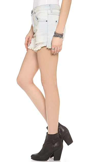 Free People Extended Rise Slouchy Shorts