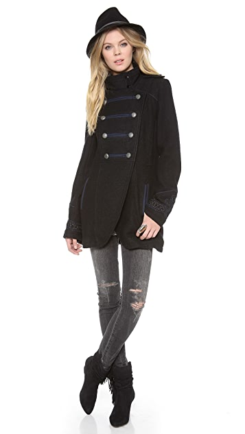 Free People Military Pea Coat