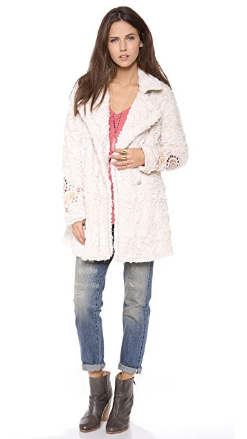 Free People Faux Fur Coat