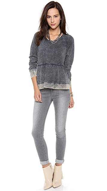 Free People Peplum Pullover