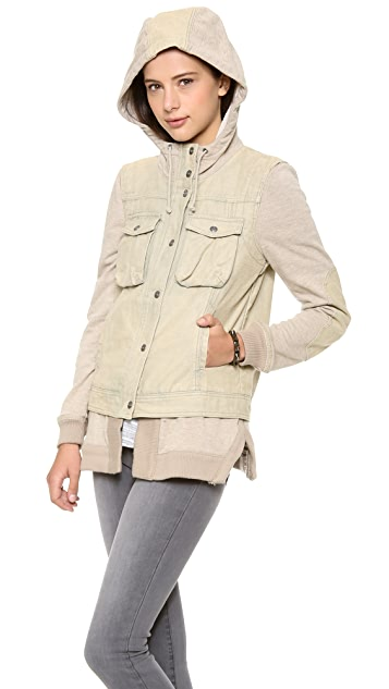 Free People Layered Slub Jacket