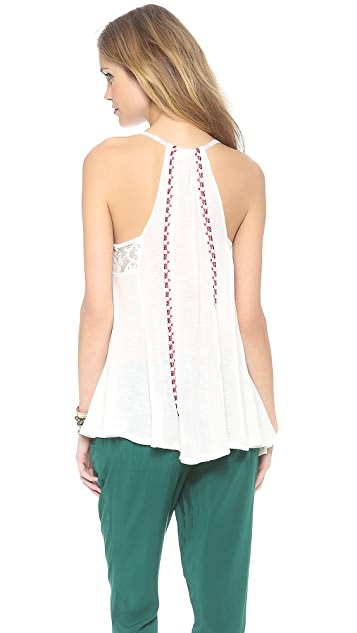 Free People Reese Embroidered Tunic