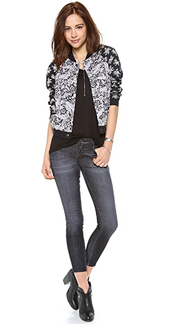 Free People Baseball Jacket