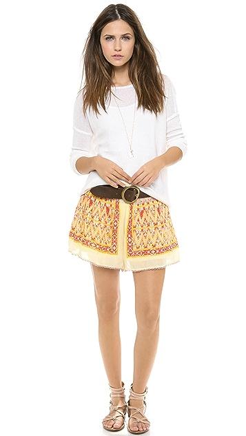 Free People Smocked Waist Shorts