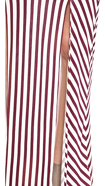 Free People What's Your Angle Maxi Skirt