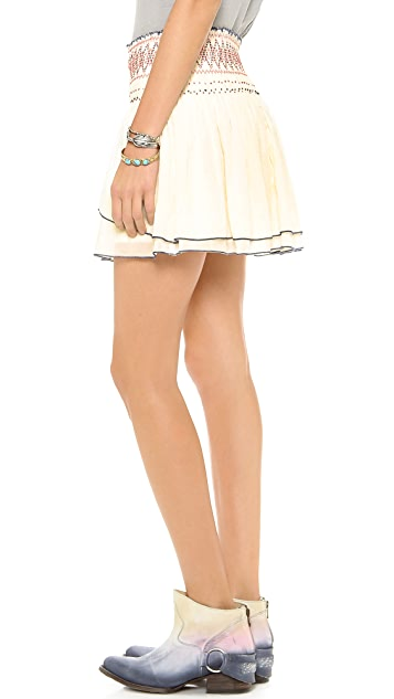 Free People Lip Smocking Good Skirt
