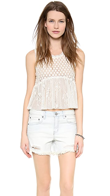 Free People Varsity Peplum Top