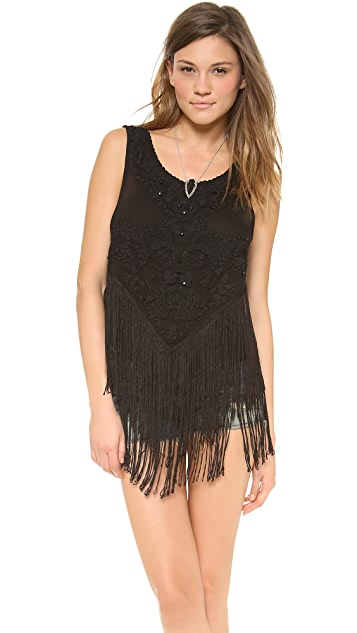 Free People On the Fringe Top