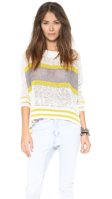 Free People Stripe Pullover