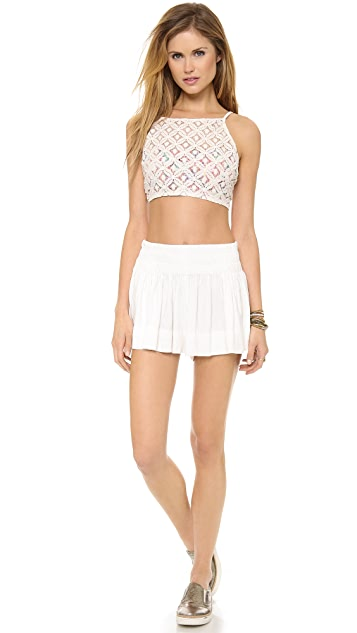 Free People Lace Apron Cami
