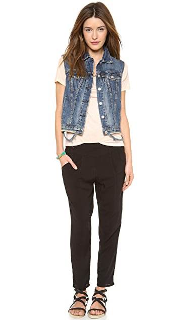 Free People Solid Easy Pleat Pants