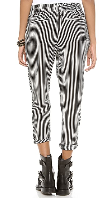Free People Stripe Easy Pleat Pants