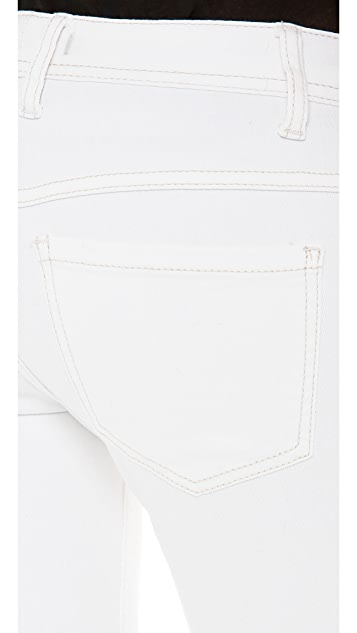 Free People Mid Rise Destroyed Skinny Jeans