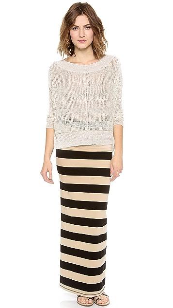 Free People Stripe Column Skirt