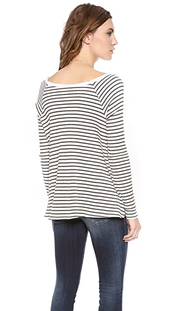 Free People Striped Rockabilly Raglan Top