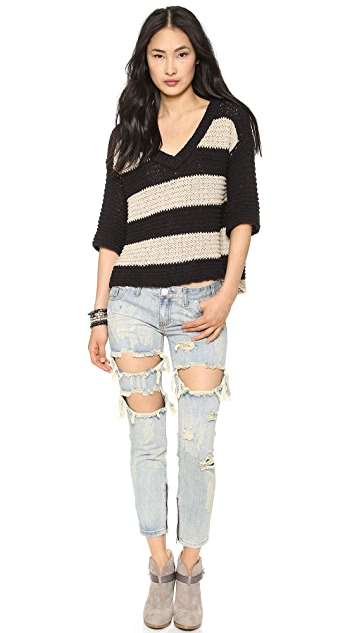 Free People Park Slope Stripe Sweater