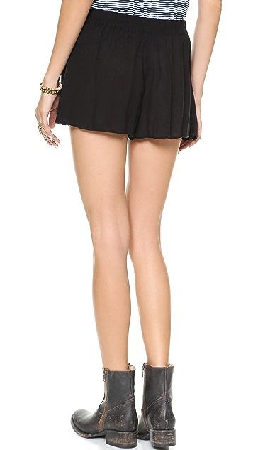Free People Solid Sarong Shorts