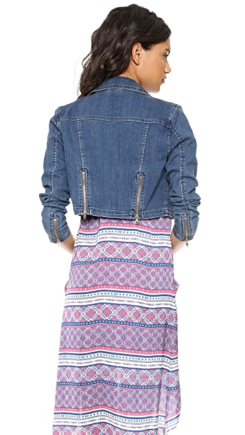 Free People Cropped Moto Jacket