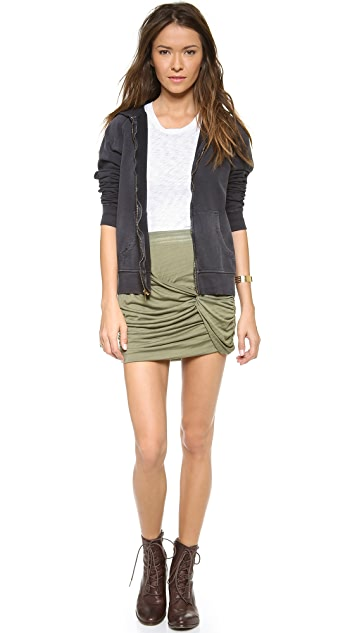 Free People Twistiful Miniskirt