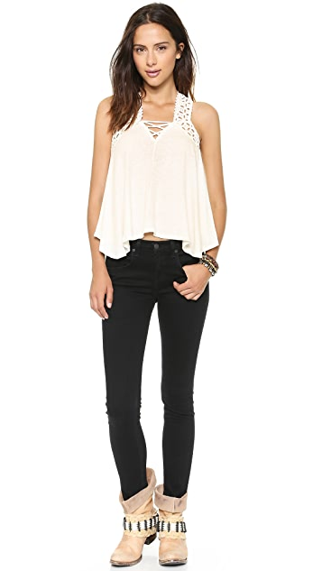 Free People Run Around Eyelet Top