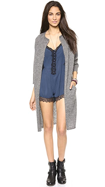 Free People Lace Insert Romper