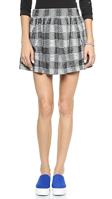 Free People Holly Go Lightly Plaid Skirt