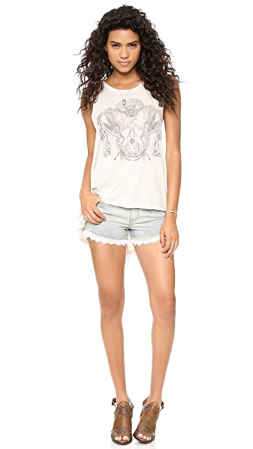 Free People Lacy Cutoff Shorts