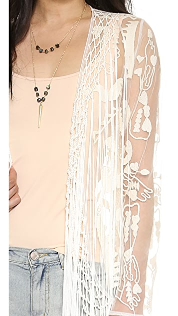 Free People Embroidered Robe