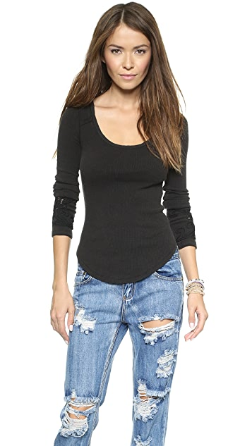 Free People Newbie Thermal Masquerade Top