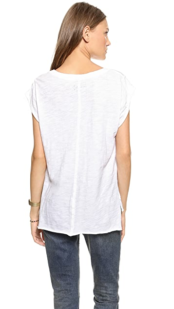 Free People Shredded Muscle Tee