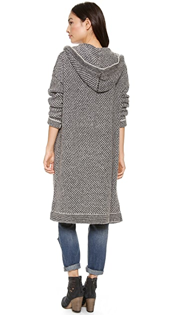 Free People Orkney Isle Hooded Cardigan