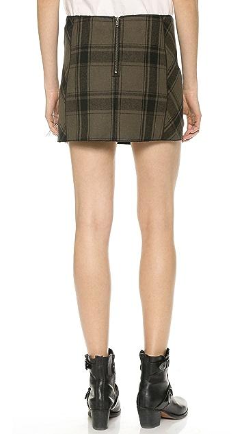 Free People Bonded Plaid Miniskirt