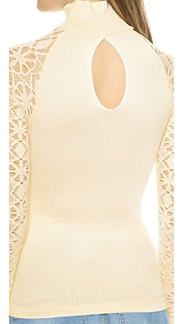 Free People Mock Neck Seamless Top