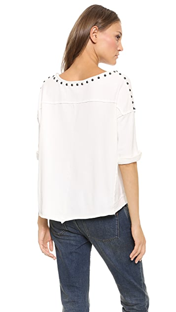 Free People Dillon Studded Tee
