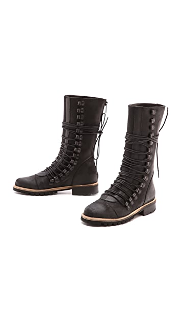 Free People Fleet Lace Up Boots