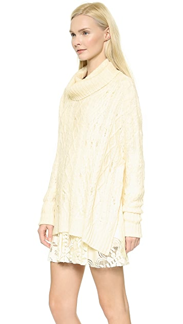 Free People Complex Cable Pullover