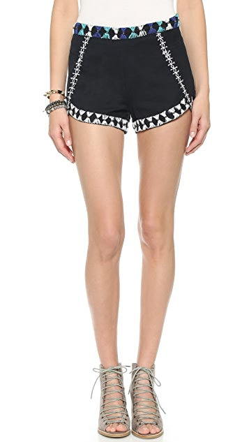 Free People Petal Embellished Shorts