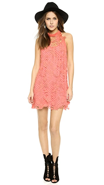 Free People Snowdrop Lace Trapeze Dress