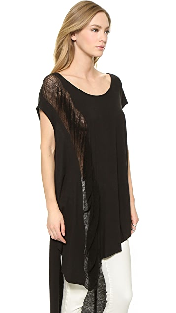 Free People Wind Chaser Shredded Tee