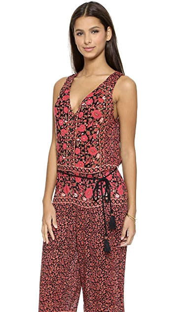 Free People Printed Culotte Jumpsuit